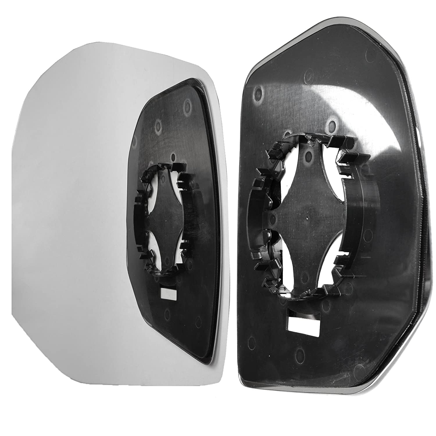 Left hand passenger side wing door clip mirror glass # PePar//M07-2015457//590