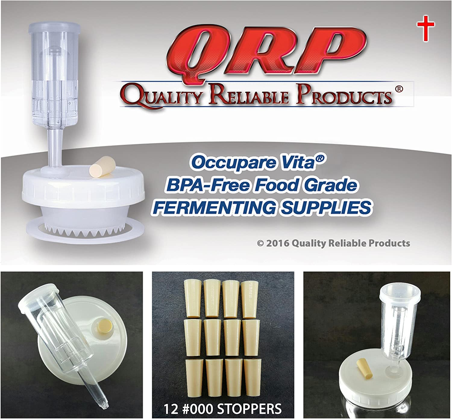 QRP AIRLOCK STOPPERS 000 3/8