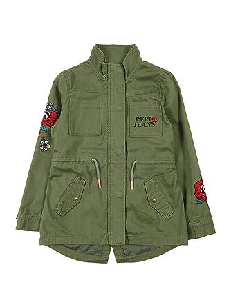new product 621a8 ca8f0 Pepe Jeans Parka Elsa Verde Donna: Amazon.it: Abbigliamento