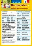 Découvertes Série jaune / Série bleue 4 - Auf einen Blick: Grammatik passend zum Schulbuch - Klappkarte (6 Seiten)