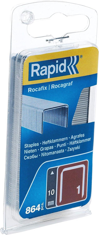 Plateado RAPID 40109414 40109414-Grapas 4 en 1 de 53-8-9-7 en Bl/íster