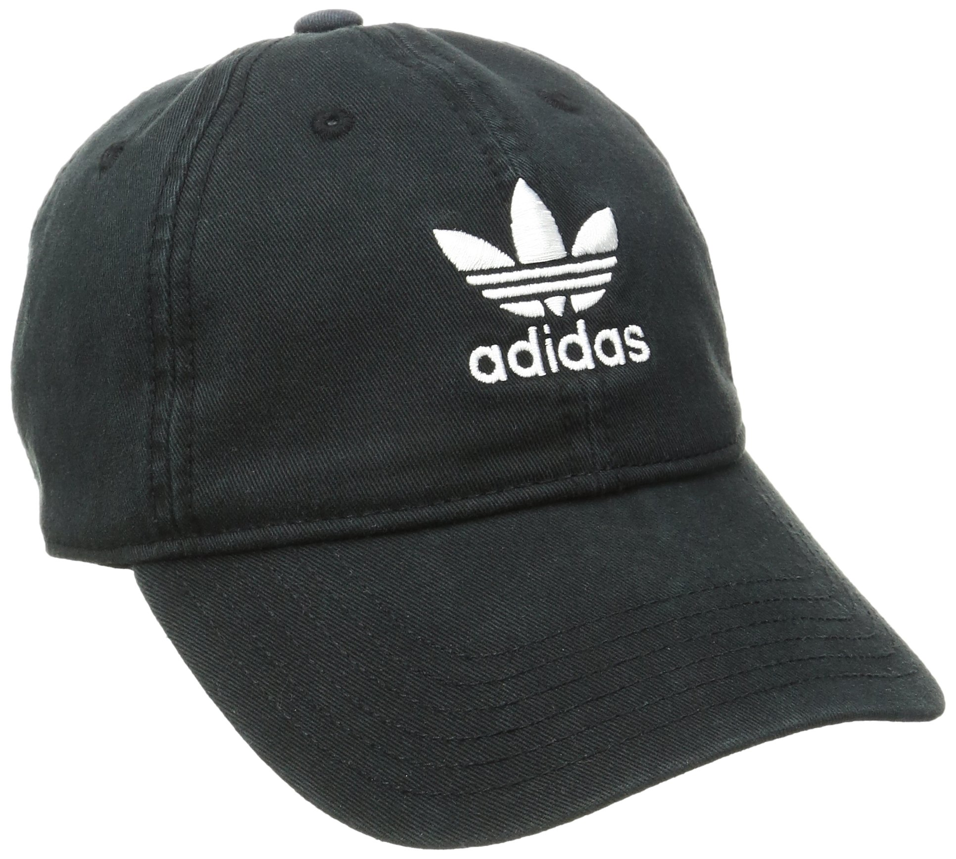 adidas Women's Originals Relaxed Fit Cap, One Size, Black/White by adidas (Image #1)