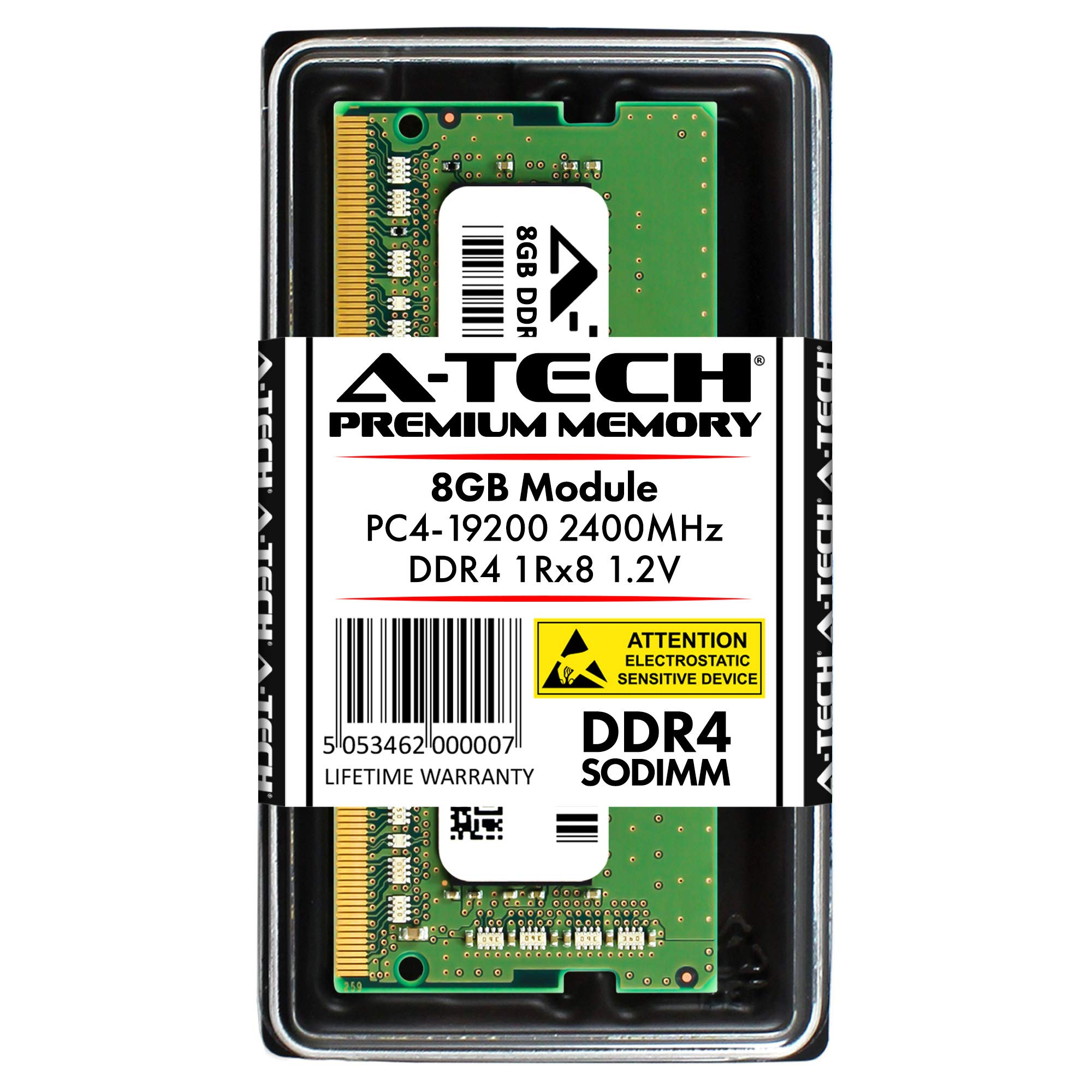 Memoria Ram 8GB A-Tech DDR4 2400MHz Modulo (1 x 8GB) PC4-19200 Non-ECC Unbuffered SODIMM 260-Pin 1Rx8 1.2V Single