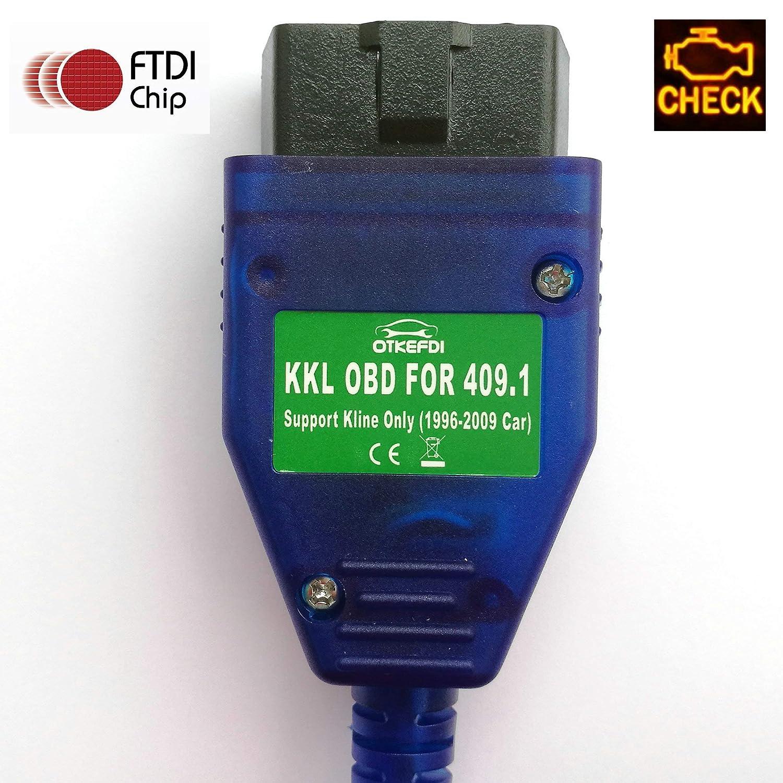 Scanner KKL OBDII C/âble KKL 409.1 OBD OTKEFDI KKL 409.1 Interface USB OBD,Outil de Diagnostic KKL 409.1 OBD2