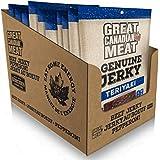 Box of Teriyaki Beef Jerky 10 Bag Bundle Pack by Great Canadian Meat (680 grams), Meat Snacks, Bulk Beef Jerky Box For Carniv