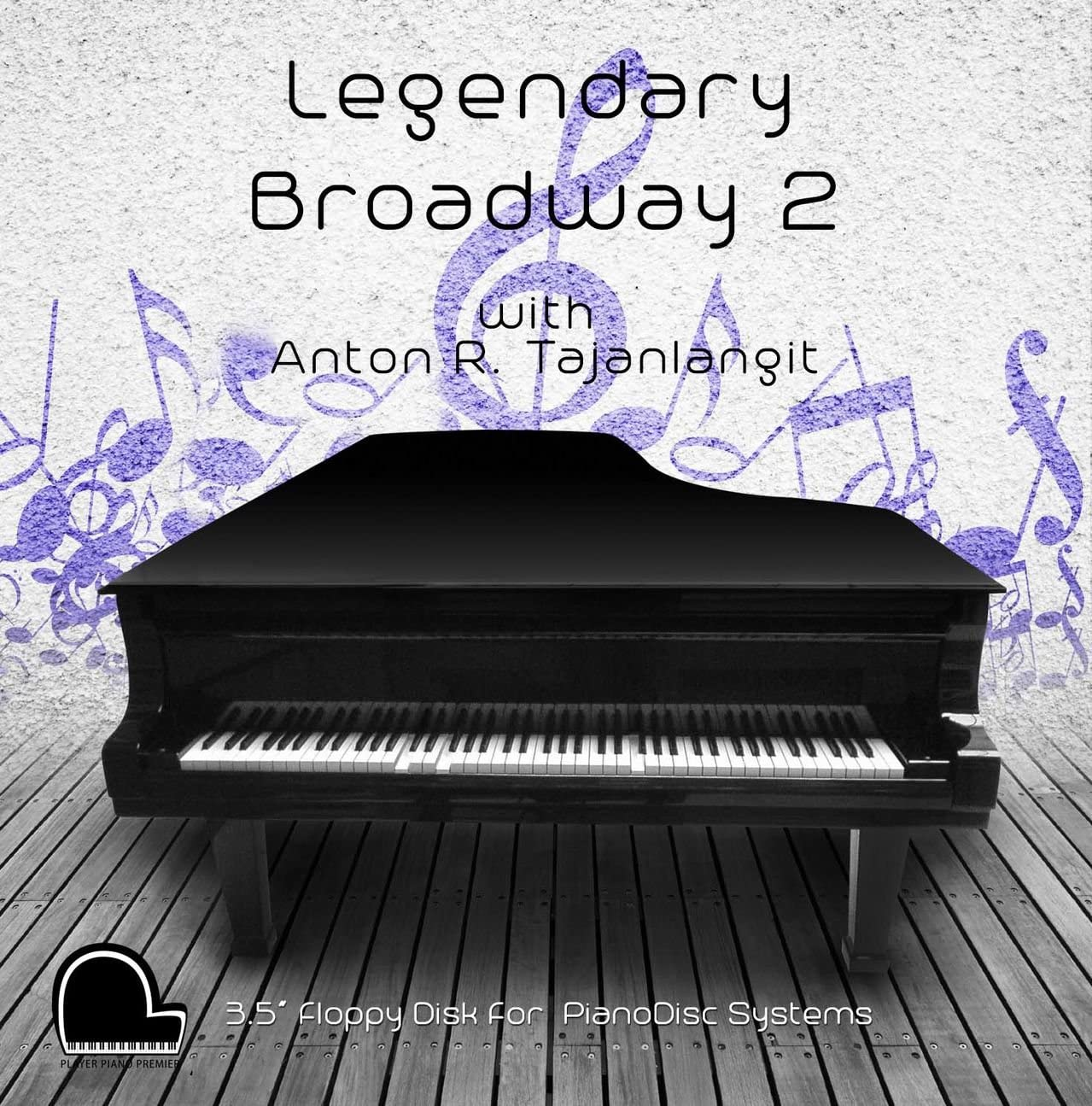 "Legendary Broadway 2 - PianoDisc Compatible Player Piano Music on 3.5"" DD 720k Floppy Disk"