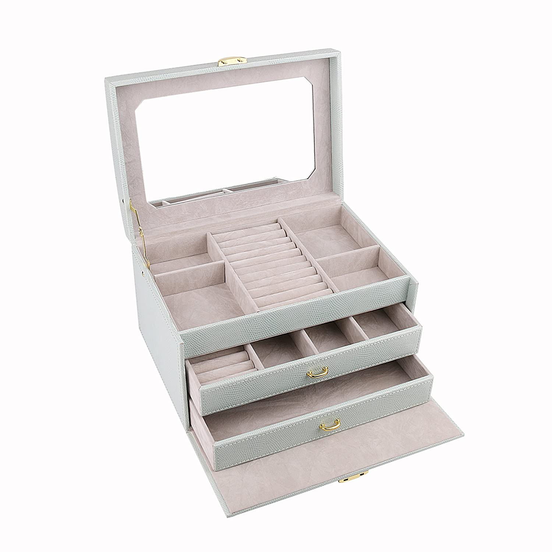 Amazon.com: A Comely Medium Jewelry Box Accessories Jewelry Storage ...