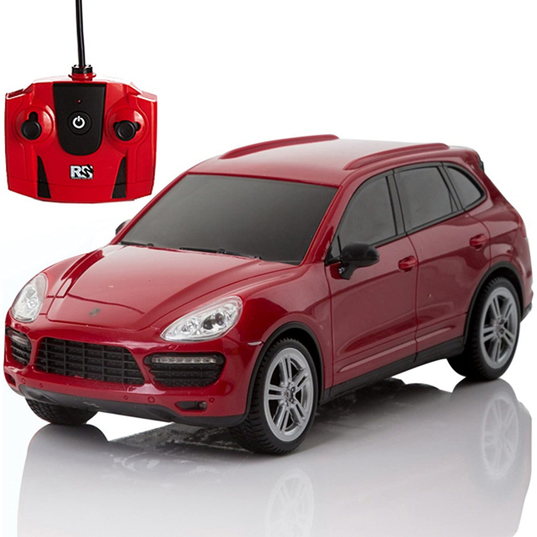 Porsche Cayenne Turbo, Remoto/Radiocontrolado Modelo coche. Escala 1:24 Rojo/Blanco - Rojo: Amazon.es: Juguetes y juegos