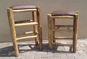 Legacy Home Fashions Solid Teak Lodge Stools (24 Inch)