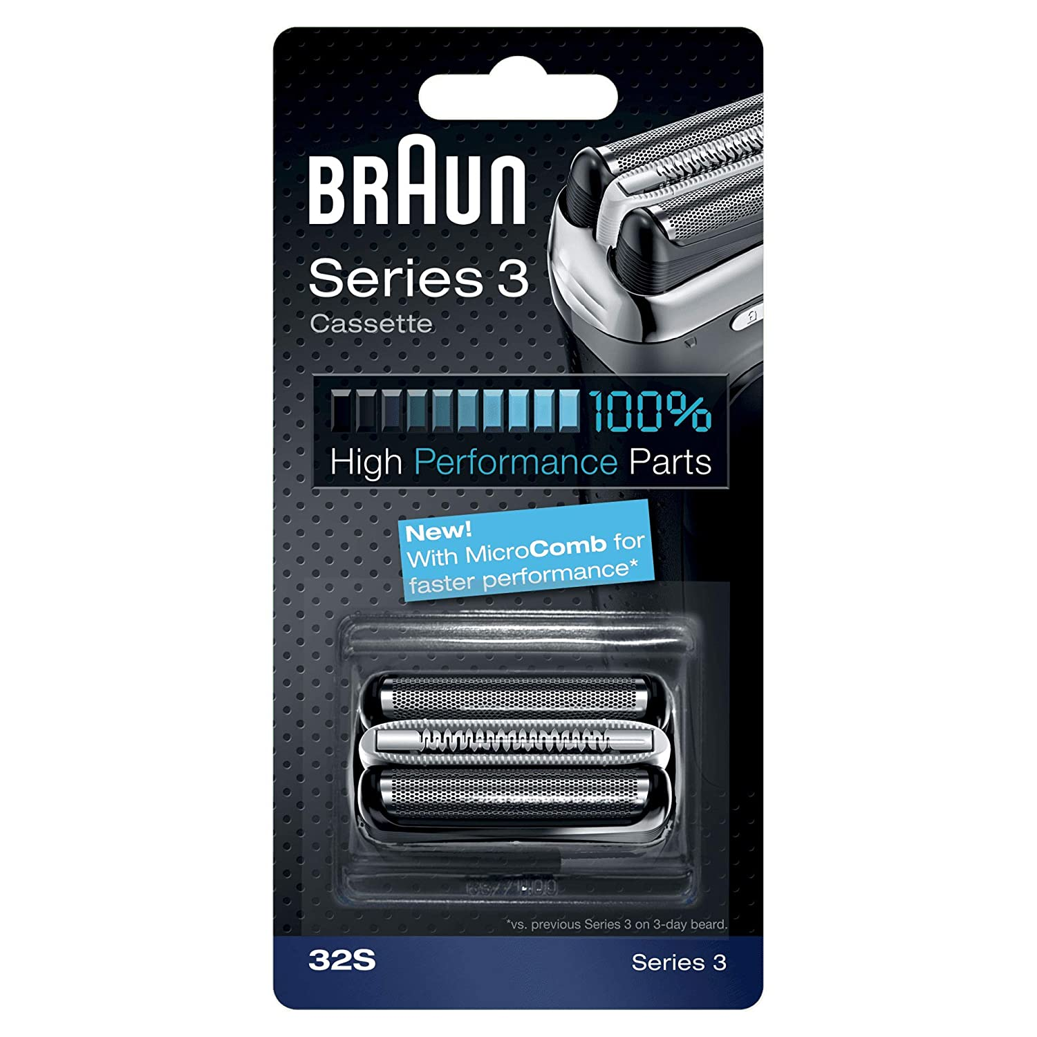 Braun 32S Replacement Foil Multi Silver BLS Cassette