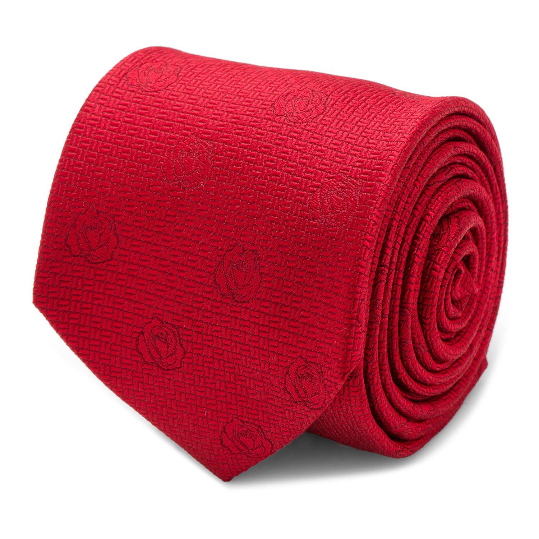 Disney Red Rose Men's Tie