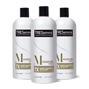 TRESemmé Conditioner for Dry Hair Moisture Rich Professional Quality Salon-Healthy Look and Shine Moisture Rich Formulated with Vitamin E and Biotin 28 oz 3 Count