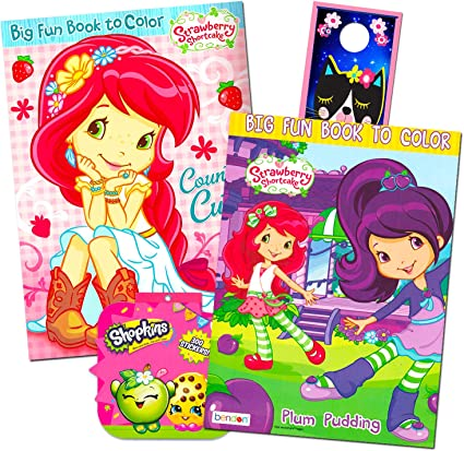 Amazon.com: Strawberry Shortcake Coloring Book Super Set -- 2 Jumbo Coloring  Books With Over 100 Stickers: Toys & Games