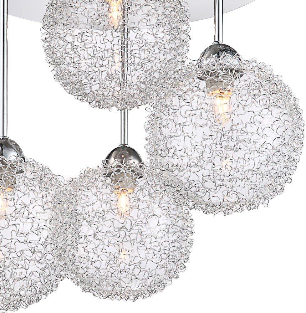 Globo 5662–4D New Design Anhänger Lampe, Chrom Silber