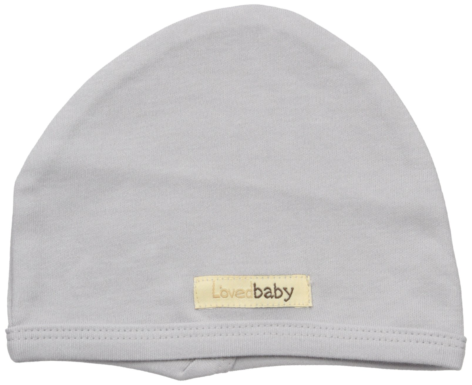 L'ovedbaby Baby Organic Cotton Hat, Light Gray, 6-12 Months