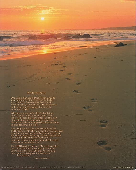 Impact Posters Gallery Footprints Poster In The Sand Motivational Wall Decor Art Print 16x20