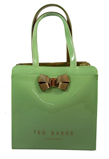 1d1254523b835f Ted Baker Kriscon Bow Detail Small Icon Tote Bag Olive Green  Amazon ...