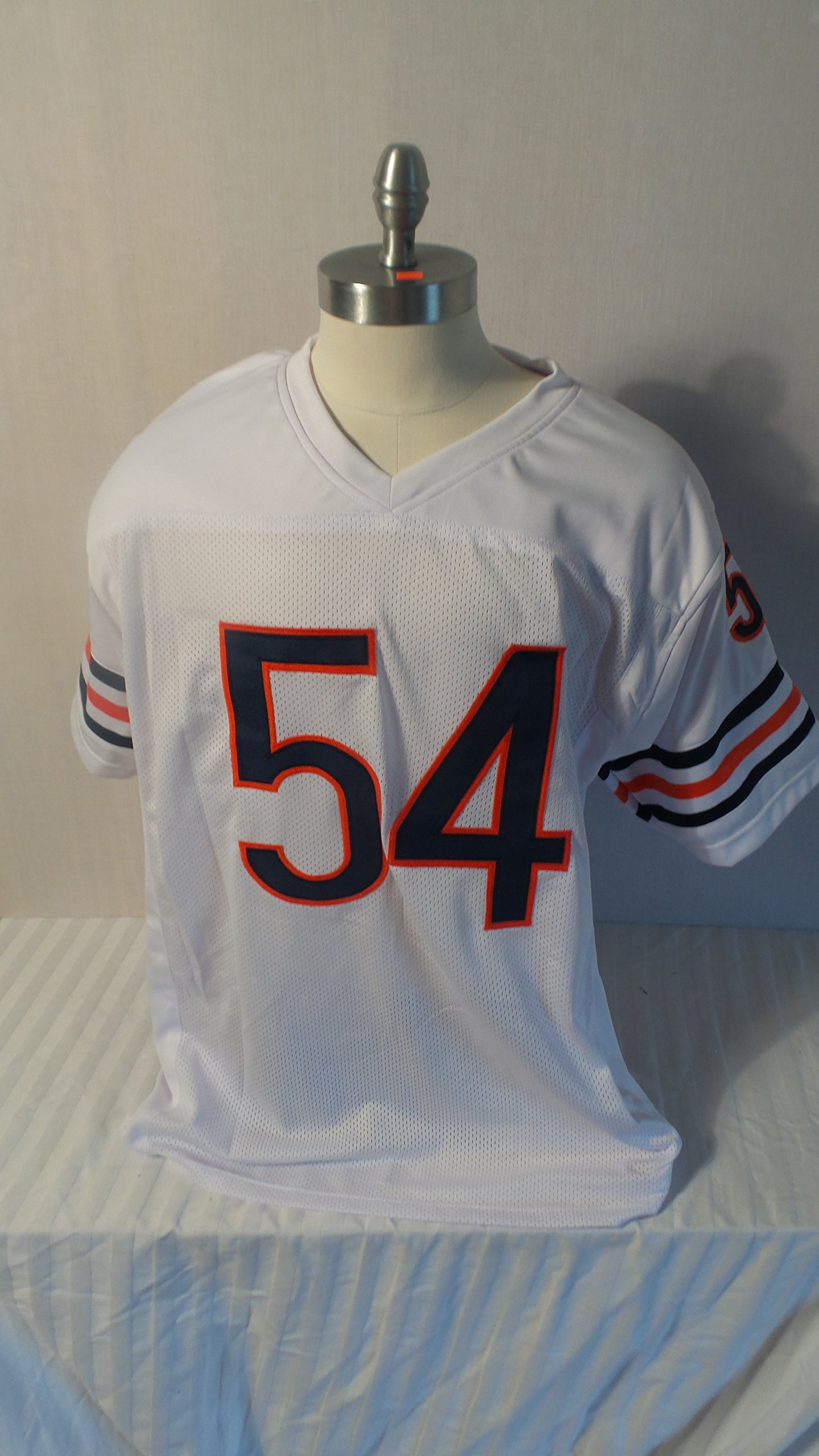 Brian Urlacher Signed Chicago Bears White Autographed Custom Men XL Jersey HOF