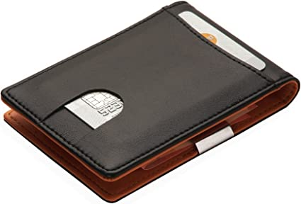 Portemonnaie Mit Geldklammer Für Herren Kreditkartenetui Mit Geldclip Geldbörse Mit Visitenkartenetui Geldbeutel Mit Geldscheinklammer Portmonee