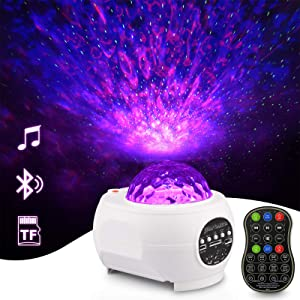 Star Projector, Galaxy Projector, Galaxy Lights Galaxy Projector, Star Light Aurora Borealis Projector Night Lights with Remote Control, Bluetooth Speaker for Bedroom Home Theatre Party Game Rooms