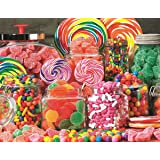 Springbok Puzzles - Candy Galore - 350 Piece Jigsaw Puzzle - Large 23.5 Inches by 18 Inches Puzzle - Made in USA - Unique Cut Interlocking Pieces - Large Pieces - Easy to Pick and Place