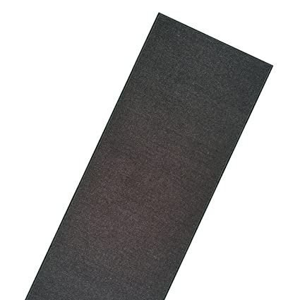 19bab76c243 Image Unavailable. Image not available for. Color  Choose Your Length Runner  Rug Black Rubber Backed Non-Skid Hallway Entry Kitchen ...