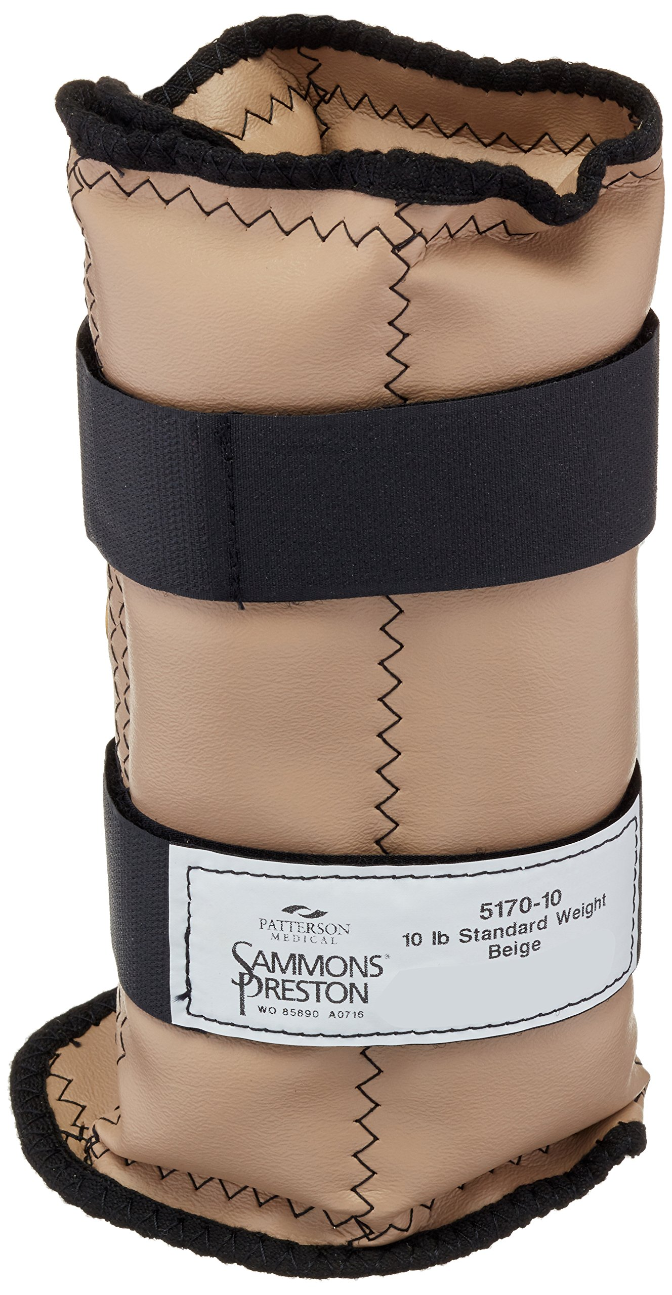 Sammons Preston Cuff Weight, 10 lb, Beige, 2 Straps with D-Ring Closure, Grommet for Easy Hanging, Steel Ankle & Wrist Weights are Lead Free, Exercise Tool for Strength Building & Injury Rehab