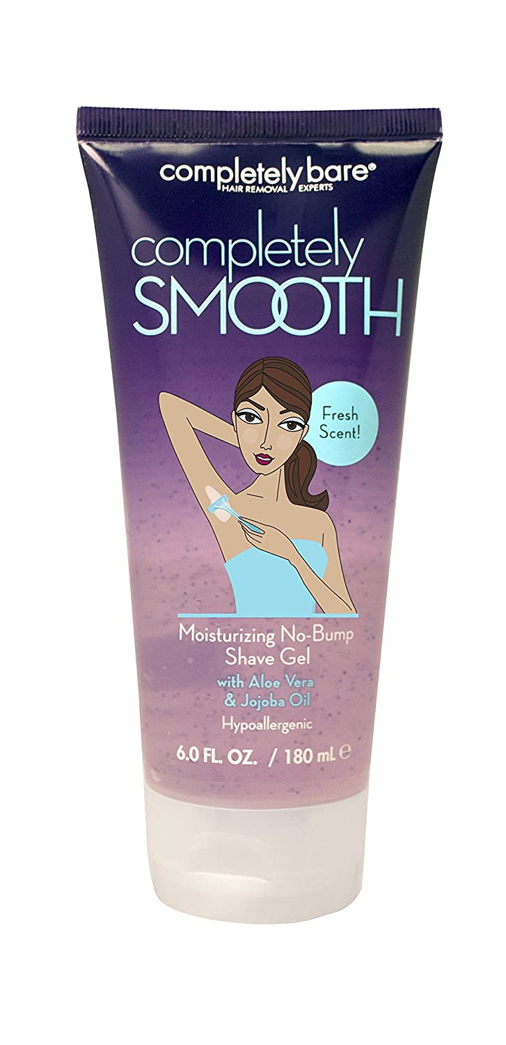 Completely Bare completely SMOOTH Moisturizing No-Bump Shave Gel with Aloe Vera & Jojoba Oil, Fresh Scent - Chamomile Extract, Hypoallergenic Formula 6.0 oz (Pack of 3)