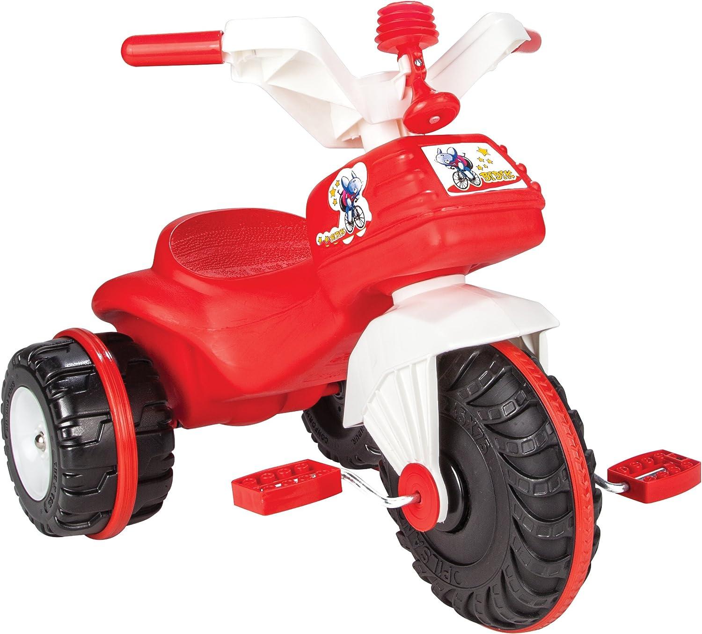 Pilsan Bicicleta de Triciclo 07119 plástico Rojo con Pedales y bocina