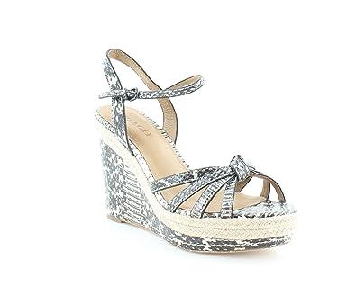 bb2815b7776 Coach Dalton Espadrille Wedge Sandals Size 8 M Black White