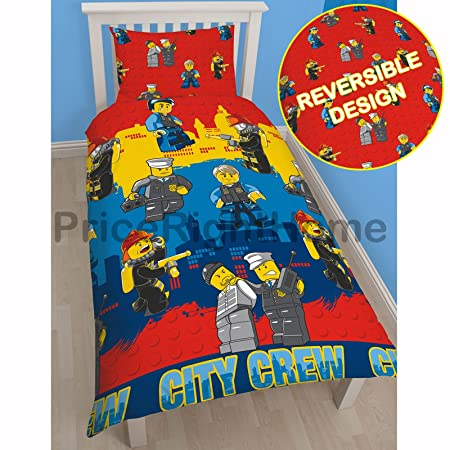 LEGO City Heroes Single Duvet Cover Set: Amazon.co.uk: Kitchen & Home