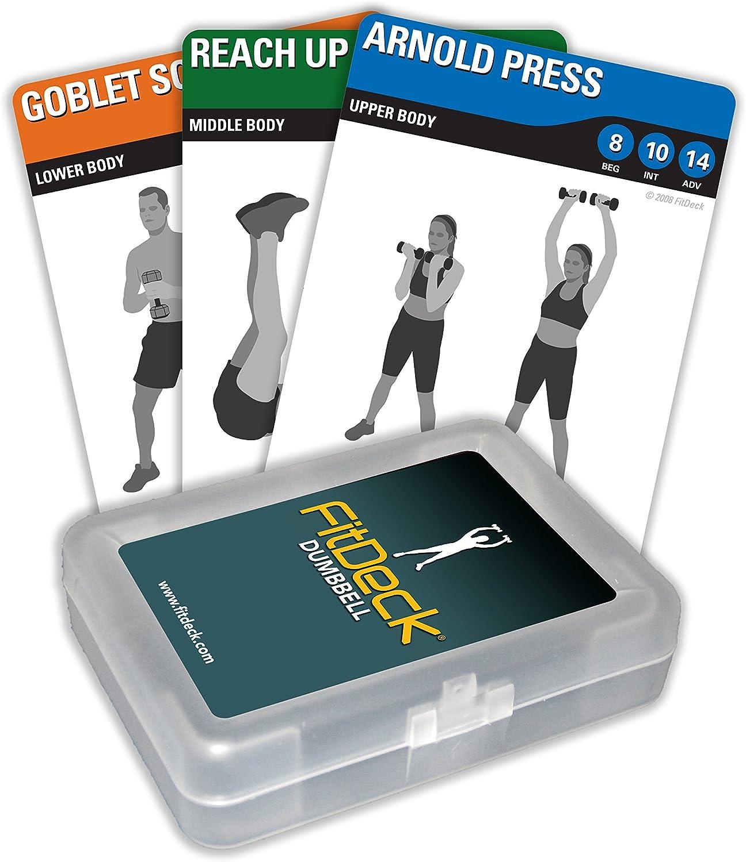 Esercizio fitdeck carte da gioco per allenamenti guidati attrezzi per fitness