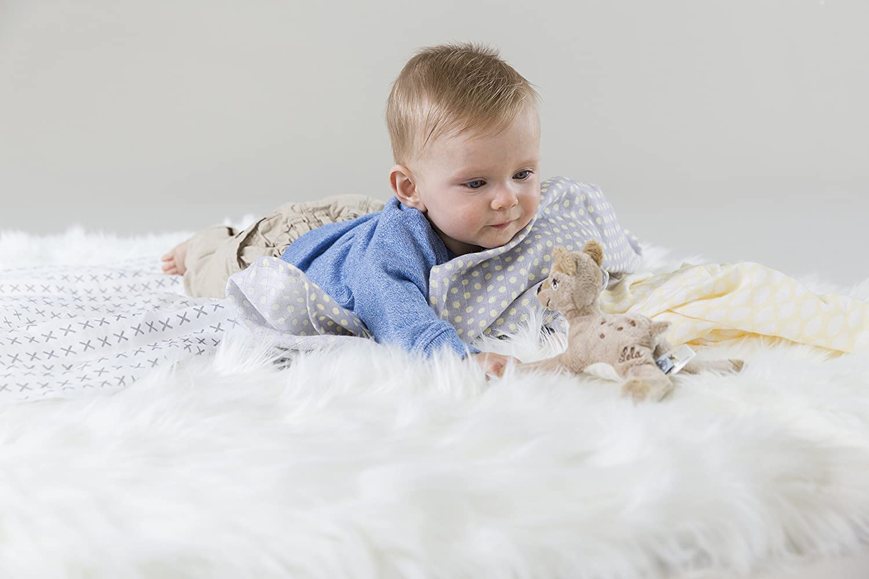 Large Riddle Lassig Baby Muslin Swaddle /& Burp Blanket