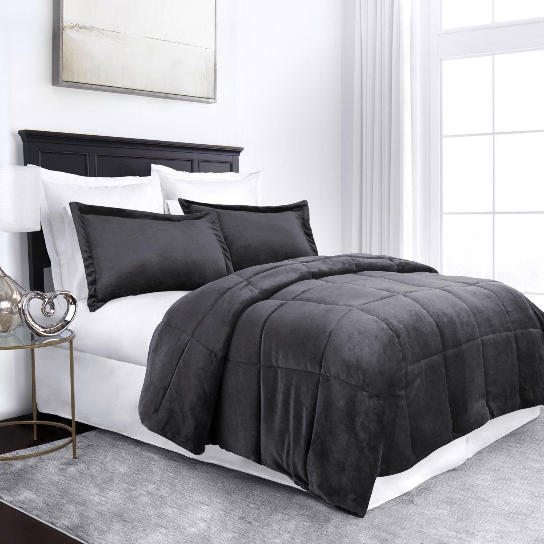 Sleep Restoration Micromink Goose Down Alternative Comforter Set - All Season Hotel Quality Luxury Hypoallergenic Comforter/Blanket with Shams -King/Cal King - Gray