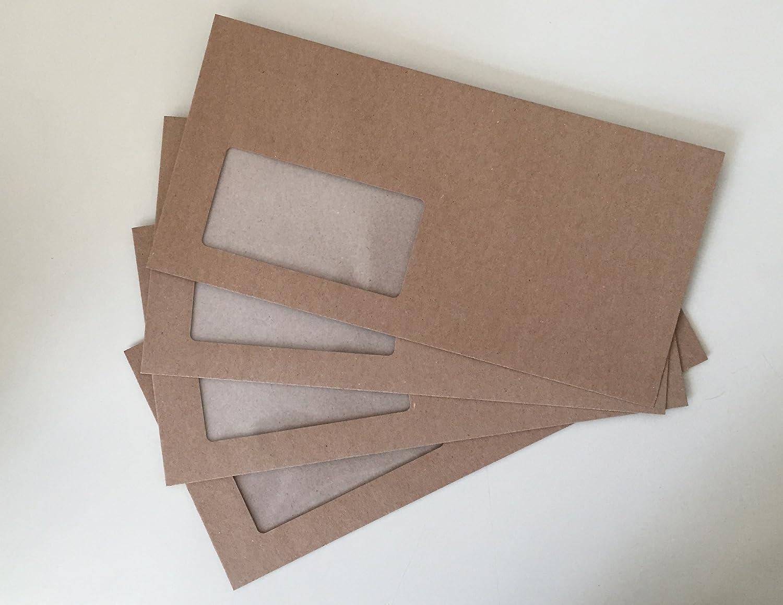 Design-RC/® 100 sobres con ventana de ELCO 229 x 114 mm cierre autoadhesico con tira de papel reciclado con ventanas compostables