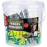Forças Armadas Playset 54 Soldados & Jipe + 2 Cercados Brasileiros Balde 3,2 Lt., Gulliver