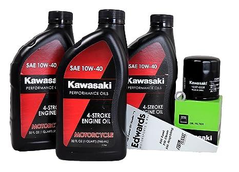 Amazoncom 2009 Kawasaki Er 6n Oil Change Kit Automotive