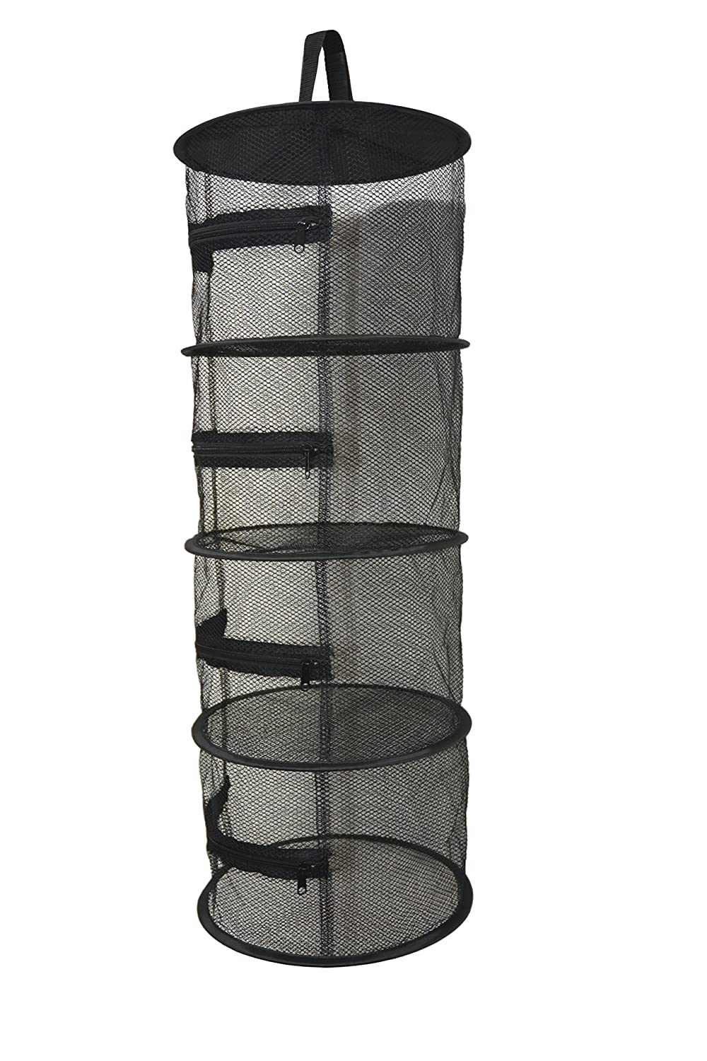 "12"" Diameter Herb Drying Rack 4 Level Compact Hanging Plant trocken Net (nicht Twisting) - Black Mesh Screen W/Zipper für jeder Level - Indoor & Outdoor Verwendung bei Closets, Grow Tents, Apartments, Small Spaces"