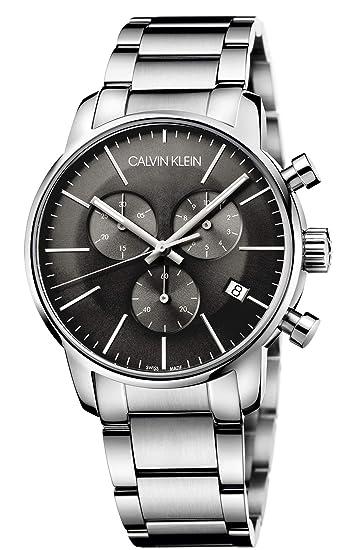 Calvin Klein - Reloj de Pulsera Hombre cronógrafo Cuarzo Acero Inoxidable k2g27143: Amazon.es: Relojes