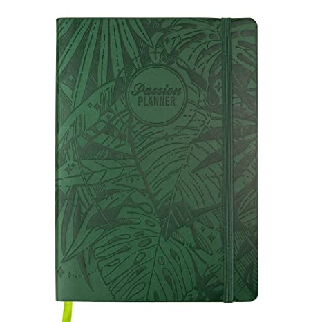 Passion Planner Large Dated Jan-Dec 2020 - Goal Oriented Weekly Agenda, Reflection Journal (A4-8.3 x 11.7 in) Monday Start (Forest Green)
