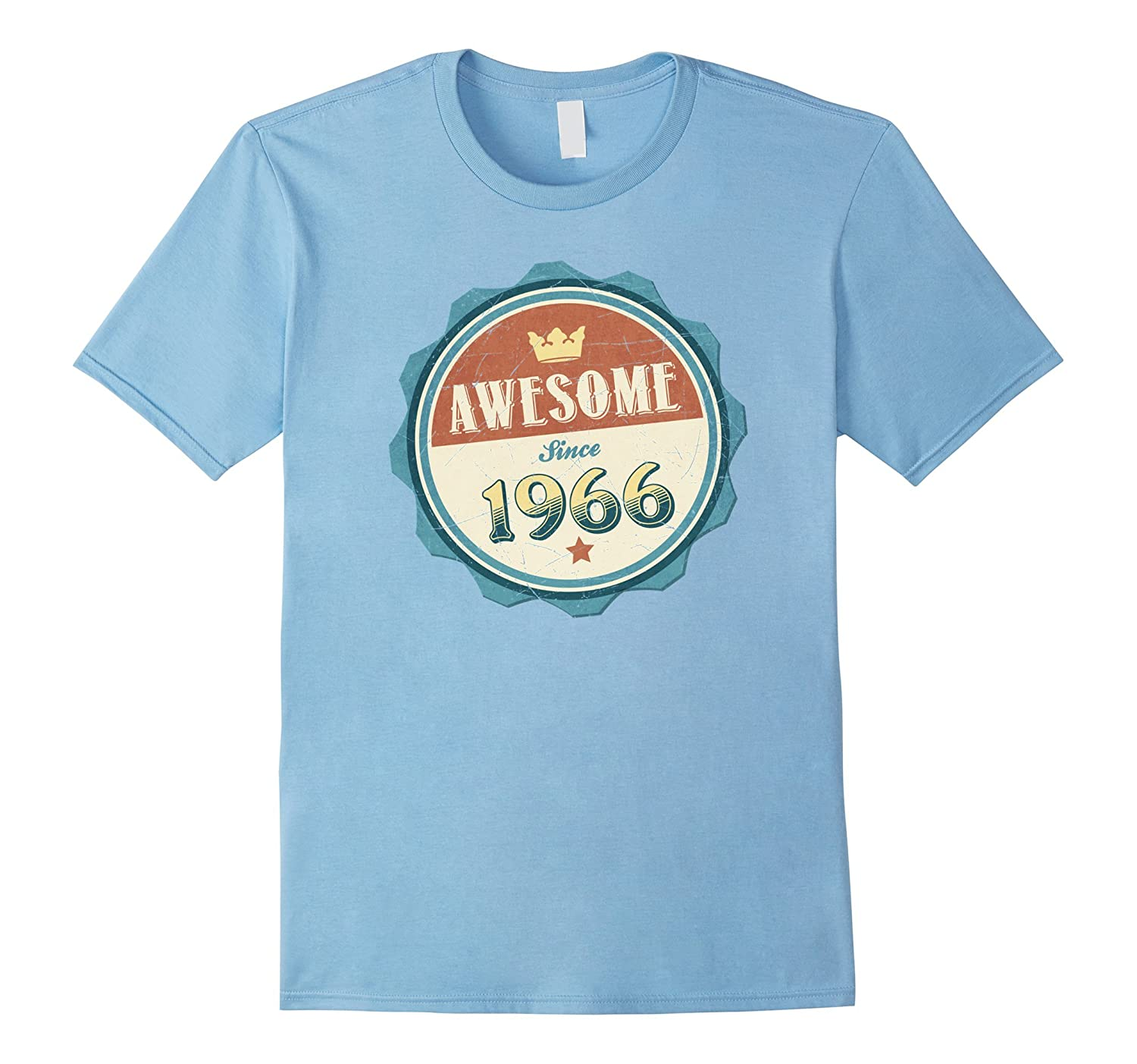 Retro Awesome Since 1966 Birthday T-Shirt-Vaci