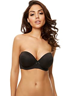 97445233be15a Ann Summers Womens Delilah Strapless DD Plus Bra Padded Sexy Lingerie  Underwear Black 32G