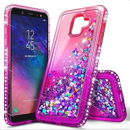Amazon.com: NageBee - Funda para Galaxy J8 con purpurina ...