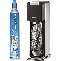 SodaStream strömsparande vattenberedare svart och silver med 1 l flaska och 60 l CO2-cylinder, 3 fizz nivåer, automatisk…