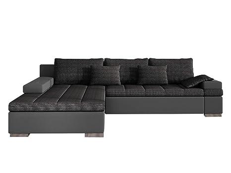 Design Ecksofa Bangkok, Moderne Eckcouch mit Schlaffunktion und Bettkasten,  Ecksofa für Wohnzimmer, Gästezimmer, Couch L-Form, Wohnlandschaft, ...