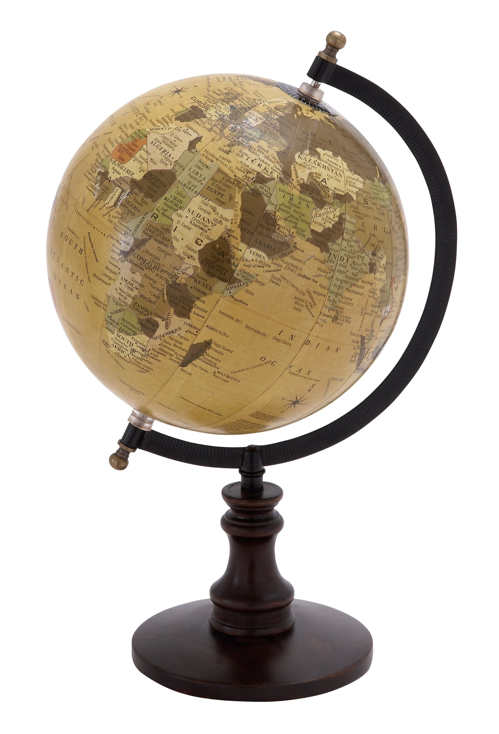 Deco 79 Globe with Metal & Wooden Details by Deco 79