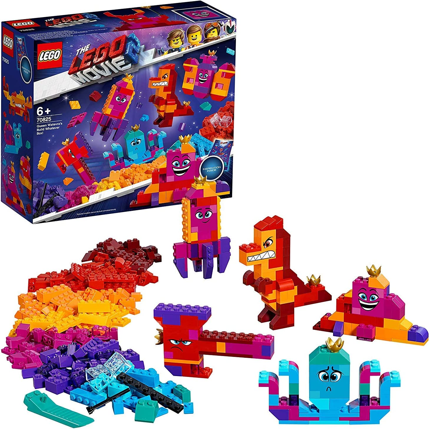 LEGO Película 2 - Caja construye lo que sea de la Reina Soyloque, juguete creativo de construcción de las aventuras de Watevra WaNabi (70825) , color/modelo surtido: LEGO: Amazon.es: Juguetes y juegos