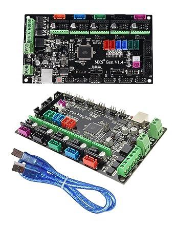 Impresora 3D MKS Ramps1.4 Placa madre de impresión 3D Mega 2560 R3 Placa base de control compatible con USB (MKS Gen V1.4)