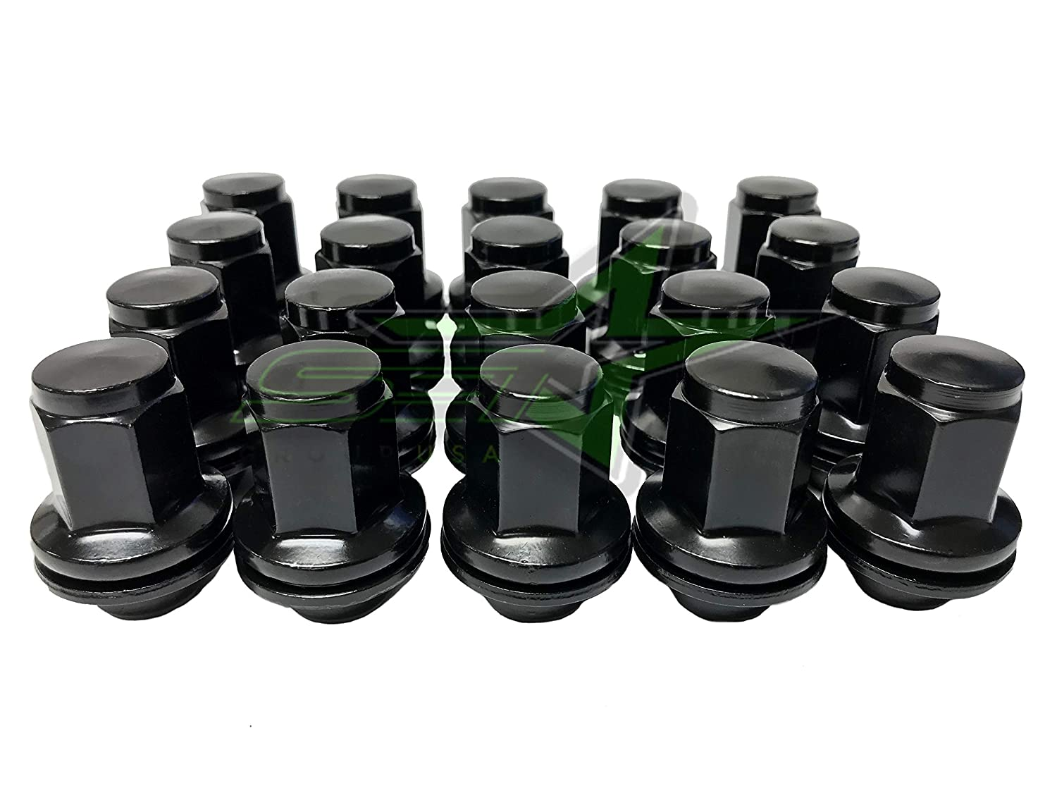14x1.5 Black OEM Factory Mag Lug Nuts 14x1.5 Works with Toyota Tundra Sequoia Land Cruiser
