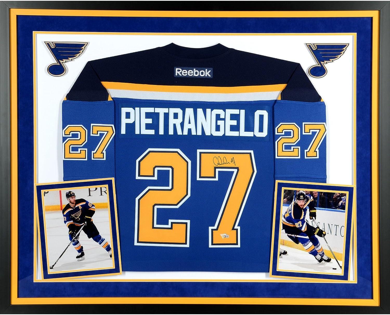 7307ac381da Amazon.com: Alex Pietrangelo St. Louis Blues Deluxe Framed Autographed Blue Reebok  Premier Jersey - Fanatics Authentic Certified: Sports Collectibles